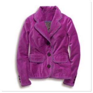 14 BODEN purple Classic velvet blazer WE225
